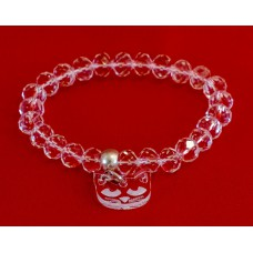 Glass Crystal Bracelet Cat