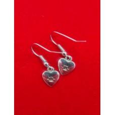 Nickel Free Earring Paw Heart
