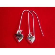 Long Earring Paw Heart