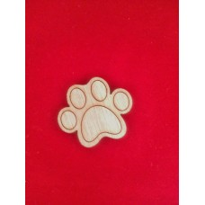 Wooden Paw Fridge Magnet