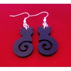 Earrings Curly Black