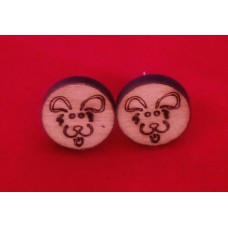 Stud Earrings Fluffy