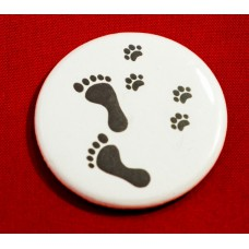 Paw Prints Button Magnet