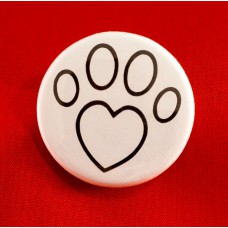 Paw Heart Button Magnet