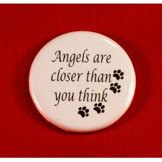 Angels Button Magnet