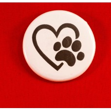 Paw Love Button Magnet
